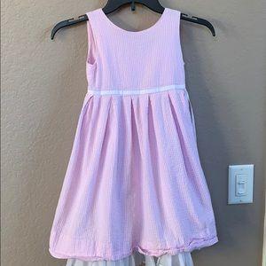 Ralph Lauren pink and white seersucker dress